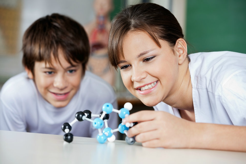 girl with chemical model