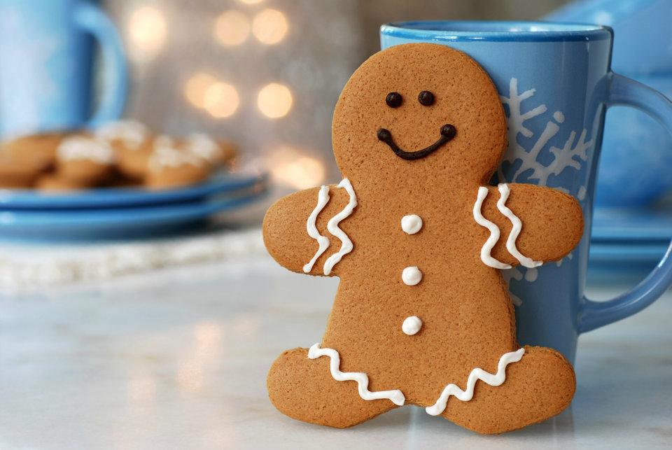 gingerbread man and mug